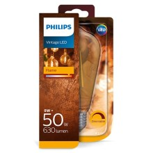 Ampoule LED à intensité modulable Philips E27/8W/230V 2000K