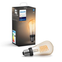 Ampoule LED à intensité modulable Philips HUE WHITE FILAMENT ST64 E27/7W/230V 2100K