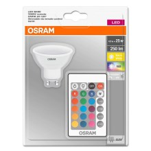 Ampoule LED à intensité modulable RGB GU10/4,5W/230V - Osram