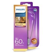 Ampoule LED dimmable Philips E27/8W/230V 2200-2700K