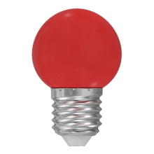 Ampoule LED E27/1W/230V rouge 5500-6500K
