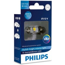 Ampoule pour voiture LED Philips X-TREME ULTINON 128584000KX1 LED SV8.5-8/0,8W/12V 4000K