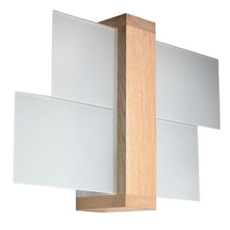 Applique murale FENIKS 1 1xE27/60W/230V bois naturel
