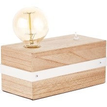 Brilliant - Lampe de table WHITEWOOD 1xE27/30W/230V