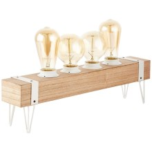 Brilliant - Lampe de table WHITEWOOD 4xE27/60W/230V