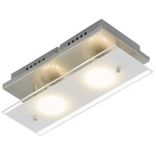 Briloner 3596-022 - Plafonnier LED TELL 2xGU10/3W/230V