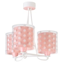 Dalber 41007S - Suspension pour enfant DOTS 3xE27/60W/230V