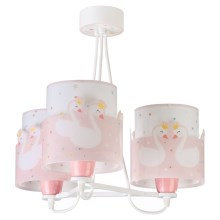 Dalber 61377 - Suspension pour enfant SWEET LOVE 3xE27/60W/230V