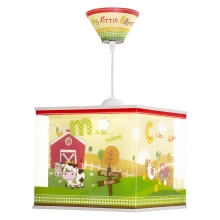 Dalber 64402 - Lustre enfant MY LITTLE FARM 1xE27/60W/230V