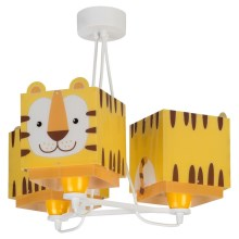 Dalber 64567 - Suspension pour enfant LITTLE TIGER 3xE27/60W/230V