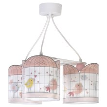 Dalber D-17284 - Suspension pour enfant LITTLE BIRDS 3xE27/60W/230V