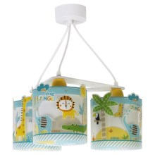 Dalber D-76114 - Suspension pour enfant MY LITTLE JUNGLE 3xE27/60W/230V