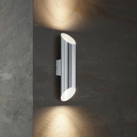 Eglo 54604 - Applique murale LED extérieure AGOLADA 2xLED/3,7W/230V IP44
