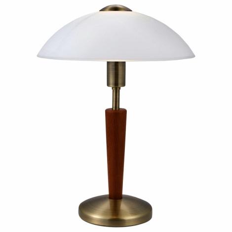 EGLO 87256 - lampe de table à intensité modulable SOLO 1 1xE14/60W bois de noyer