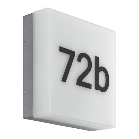 Eglo 97289 - Numéro de maison LED CORNALE LED/8,2W/230V IP44