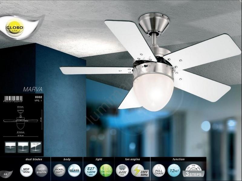 Globo Ventilateur de plafond 1xE2760W230V