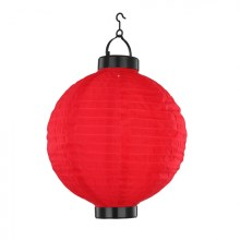 Globo - Suspension solaire 1xLED/0,06W rouge