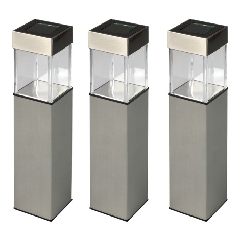 Grundig 90048 - LOT 3x Lampe solaire LED/5,5x28cm