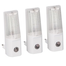 Grundig 99 – PACK 3x LED veilleuse LED à brancher 3xLED/0,5W/230V