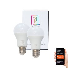 Immax NEO - 2x Ampoule dimmable LED E27/8,5W/230V ZigBee 2700K