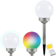 Lampe solaire LED RGB BALL LED/0,2W/AA 1,2V/600mAh IP44