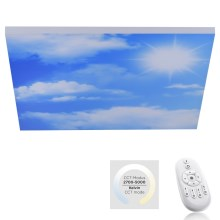 Leuchten Direkt 14600-16 - Plafonnier dimmable LED CLOUD LED/35W/230V + télécommande