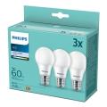 LOT 3x Ampoules LED Philips A60 E27/9W/230V 4000K