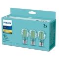 LOT 3x Ampoules LED Philips E27/8,5W/230V 2700K