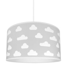 Lustre enfant CLOUDS GREY 1xE27/60W/230V