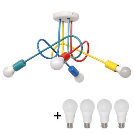 Lustre LEDe plafonnier enfant OXFORD 4xE27/10W/230V