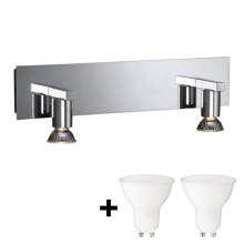 Massive 34026/11/10 - Applique murale LED HORIZON 2xGU10/6W + 2xGU10/50W