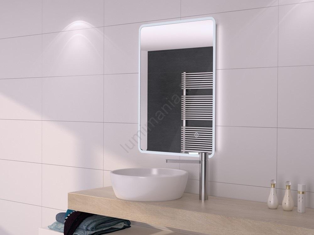 Nouveau Miroir LED salle de bain avec rétro-éclairage 500x700mm IP44 EW-08