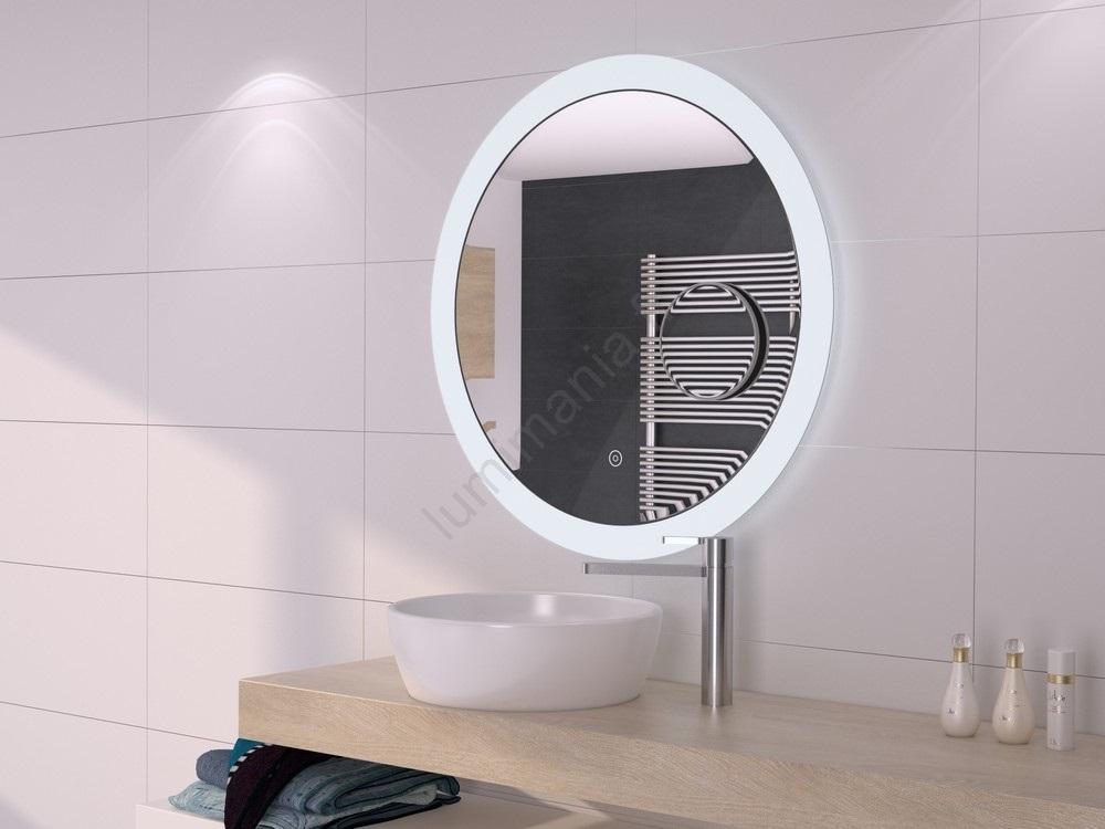 Miroir rétro-éclairé à intensité modulable LED salle de bain miroir  détachable IP44