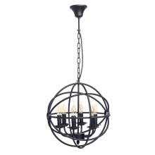 MW-LIGHT - Suspension avec chaîne COUNTRY 6xE14/60W/230V