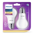 PACK 2x Ampoule LED Philips E27/8W/230V