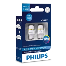 PACK 2x Ampoule LED pour voiture Philips X-TREMEULTION 127994000KX2 T10 W2,1x9,5d/0,8W