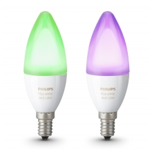 PACK 2x Ampoule LED RGB à intensité modulable Philips HUE WHITE AND COLOR E14/6W/230V 2200-6500K