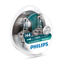 PACK 2x Ampoule pour voiture Philips X-TREMEVISION 12342XV+S2 H4 P43t-38/60W/55W/12V