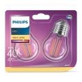 PACK 2xAmpoule LED VINTAGE E27/4W/230V 2700K - Philips