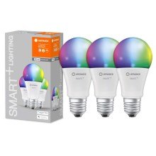 PACK 3x Ampoule dimmable LED RGB SMART+ E27/14W/230V 2700K-6500K wi-fi - Ledvance