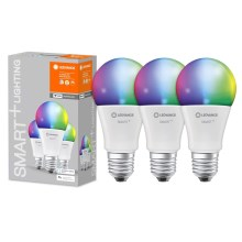 PACK 3x ampoule dimmable LED RGB SMART+ E27/9W/230V 2700K-6500K wi-fi - Ledvance