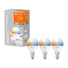 PACK 3x Ampoule dimmable LED SMART+ E14/5W/230V 2700K-6500K wi-fi - Ledvance