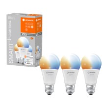 PACK 3x ampoule dimmable LED SMART+ E27/9W/230V 2700K-6500K wi-fi - Ledvance