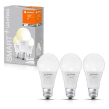 PACK 3x ampoule dimmable LED SMART+ E27/9W/230V 2700K wi-fi - Ledvance