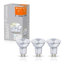 PACK 3x Ampoule dimmable LED SMART+ GU10/5W/230V 2700K wi-fi - Ledvance