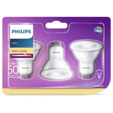 PACK 3x Ampoule LED Philips GU10/4,7W/230V