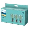 PACK 3x Ampoule LED VINTAGE Philips A60 E27/7W/230V 2700K