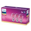 PACK 3x Ampoule LED VINTAGE Philips E27/4,3W/230V 2700K