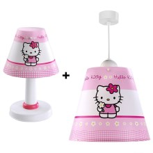 PACK Lustre enfant+lampe de table HELLO KITTY E27/60W
