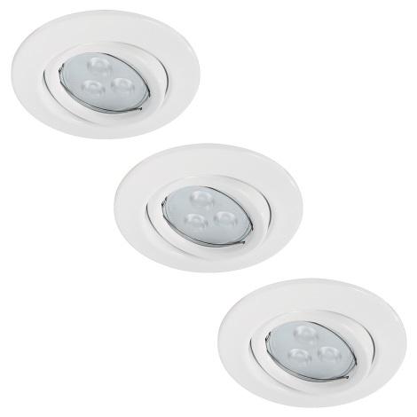 Paulmann 92027 - SET 3x LED-GU10/3,5W Spot encastrable QUALITY LINE